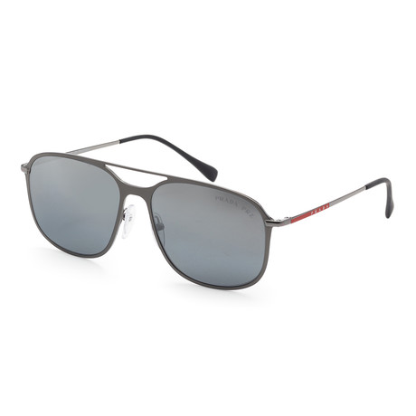 Men's PS53TS-7CQ2F256 Polarized Sunglasses // Matte Gunmetal + Silver Mirror