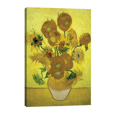 "Sunflowers (Repetition Of The Fourth Version), 1889 // Vincent van Gogh (26""W x 40""H x 1.5""D)"