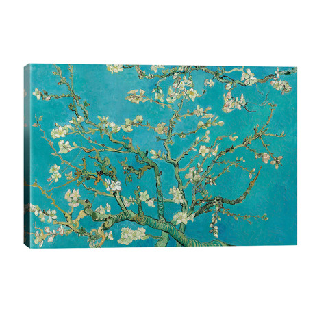 "Almond Blossom, 1890 // Vincent van Gogh (40""W x 26""H x 1.5""D)"