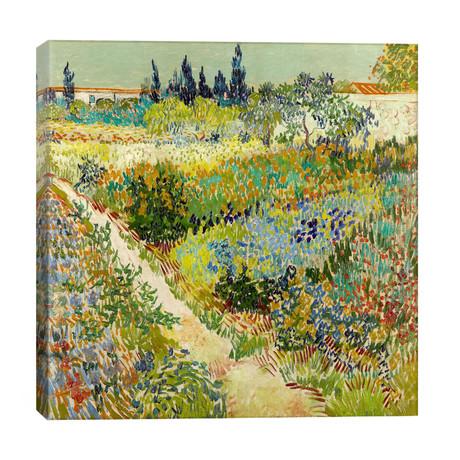 """The Garden at Arles // Vincent van Gogh (26""""W x 26""""H x 1.5""""D)"""