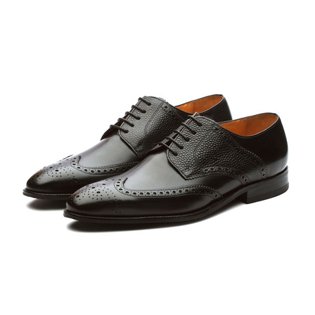 Felix Leather Wingtip Brogue Shoes // Black (US: 7)