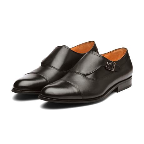 William Leather Monkstrap Shoes // Black (US: 7)