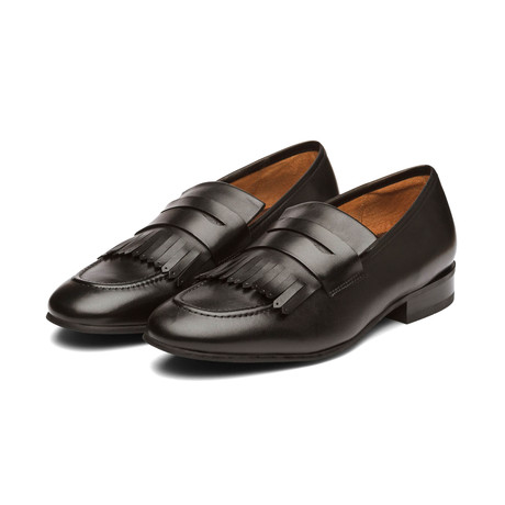 Belgian Loafers with Fringes // Black (US: 7)