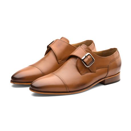 William Leather Monkstrap Shoes // Tan (US: 7)