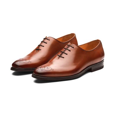 Wholecut Oxford Leather Shoes // Cognac (US: 7)