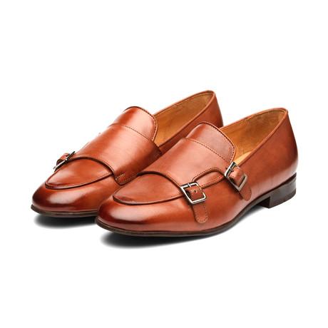 Double Monk Belgian Loafers // Cognac (US: 7)