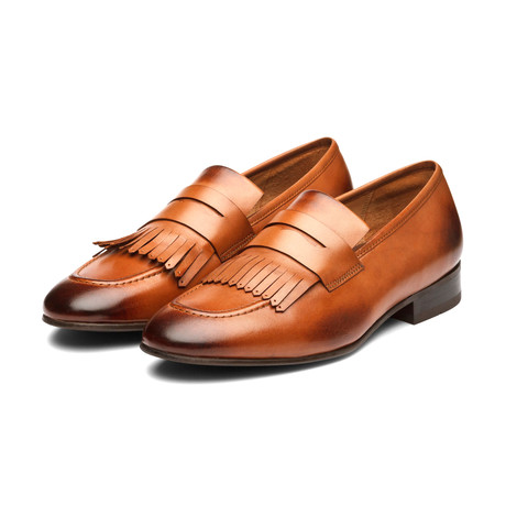 Belgian Loafers with Fringes // Tan (US: 7)