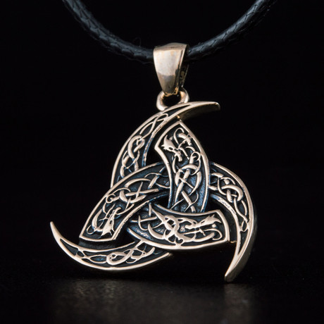 Bronze Viking Collection // Odin Horn Pendant