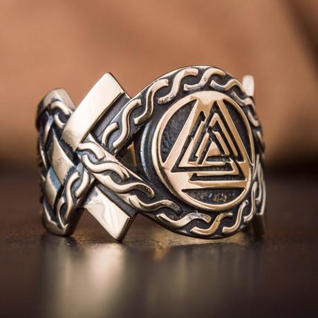 Bronze Viking Collection // Aarhus Adjustable Signet + Valknut (6)
