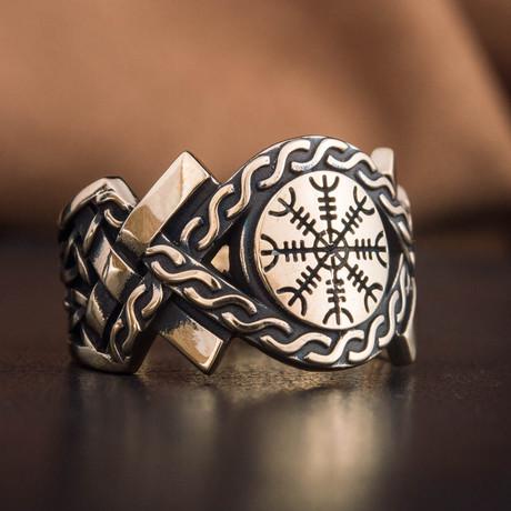 Bronze Viking Collection // Aarhus Adjustable Signet + Helm of Awe (6)