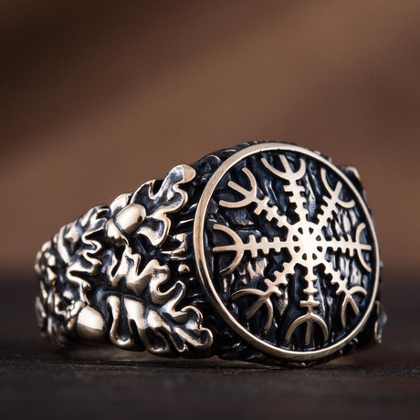 Bronze Viking Collection // Oak Leaves Signet + Helm of Awe (6)
