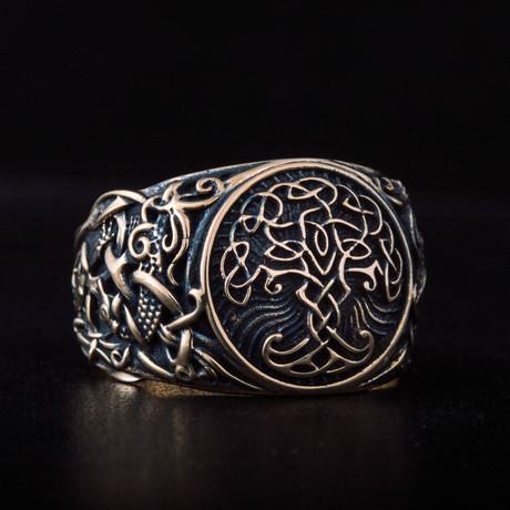 Bronze Viking Collection // Mammen Ornament Signet + Yggdrasil (6)