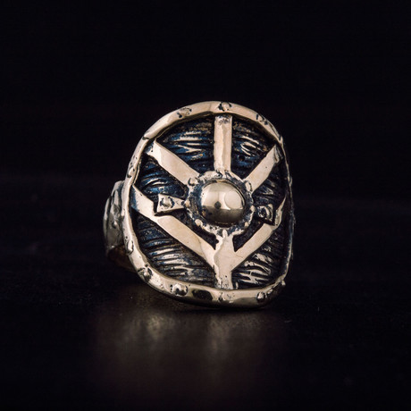 Bronze Viking Collection // Lagertha's Shield Ring (6)