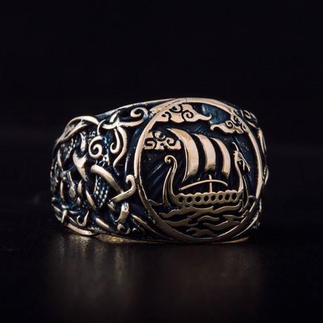 Bronze Viking Collection // Mammen Ornament Signet + Drakkar (6)