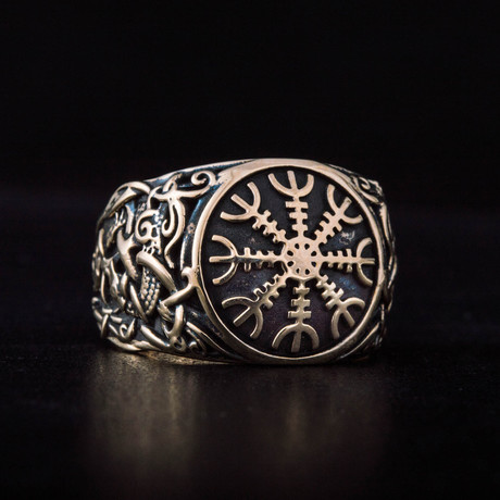 Bronze Viking Collection // Mammen Ornament Signet + Helm of Awe (6)