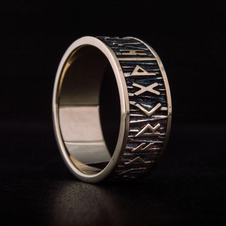 Bronze Viking Collection // Elder Futhark Ring // V2 (6)