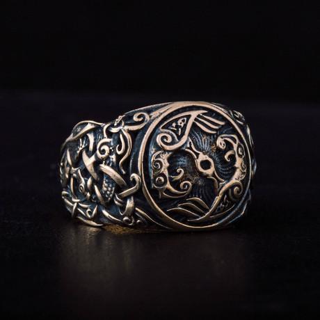 Bronze Viking Collection // Mammen Ornament Signet + Ravens (6)