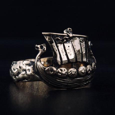 Bronze Viking Collection // Viking Ship Ring (6)