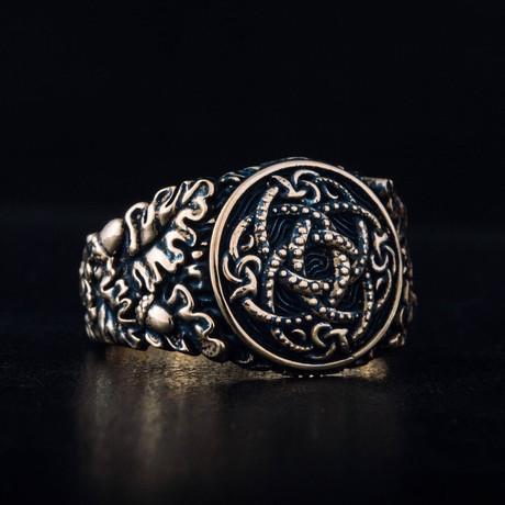 Bronze Viking Collection // Oak Leaves Signet + Jormungandr (6)