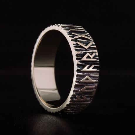 Bronze Viking Collection // Elder Futhark Ring (6)