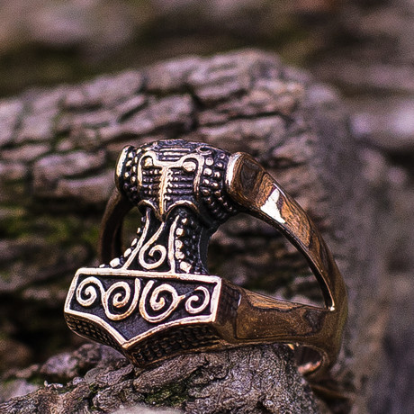 Bronze Viking Collection // Mjolnir Ring (6)