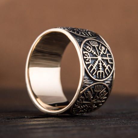 Bronze Viking Collection // Vegvisir Band (6)