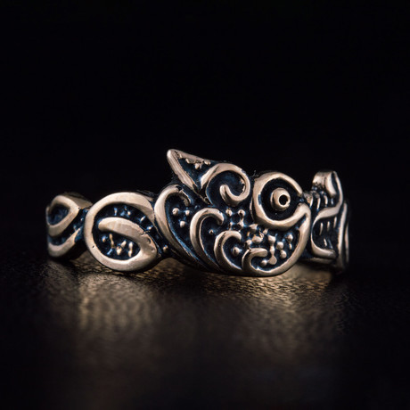 Bronze Viking Collection // Fenrir Norse Wolf Ring (6)