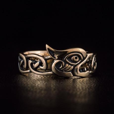 Bronze Viking Collection // Fenrir the Viking Wolf Ring (6)