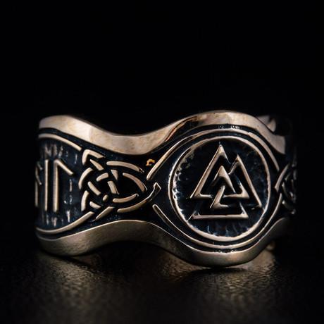 Bronze Viking Collection // HAIL ODIN Ring + Valknut // V2 (6)