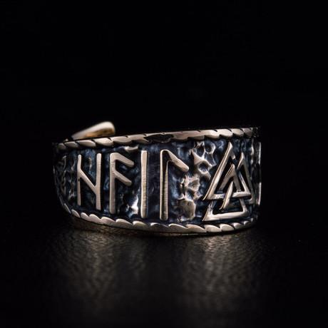 Bronze Viking Collection // HAIL ODIN Ring + Valknut // V1 (6)