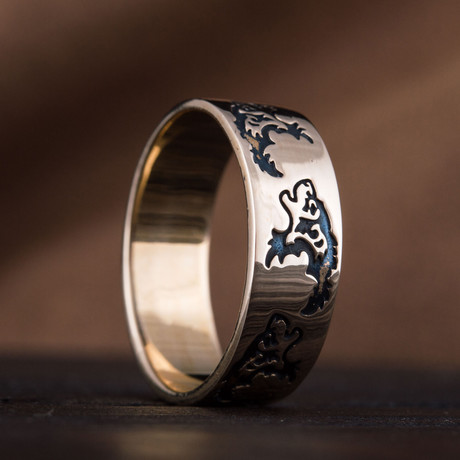 Bronze Viking Collection // Wolf Ornament Ring (6)