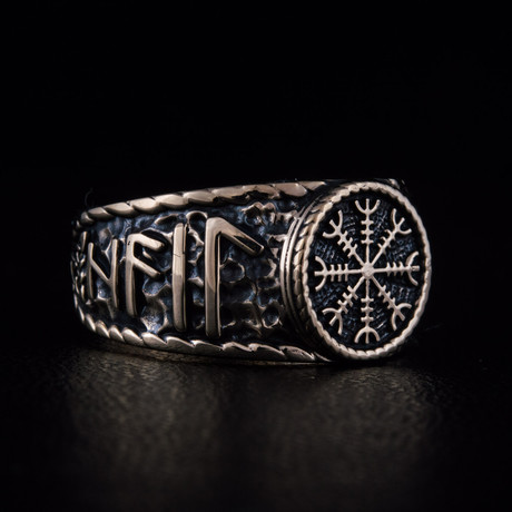 Bronze Viking Collection // HAIL ODIN Ring + Helm of Awe (6)