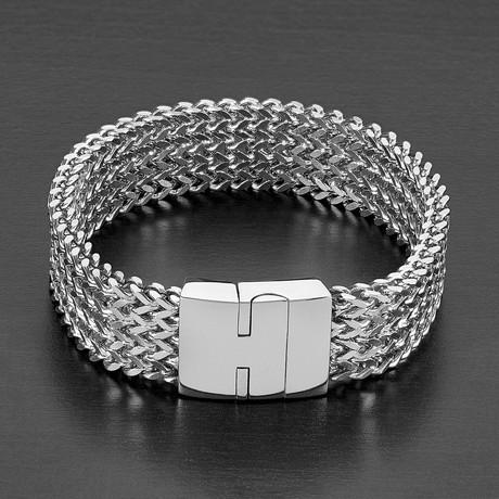 High Polished Multi-Layer Franco Link Bracelet // Silver
