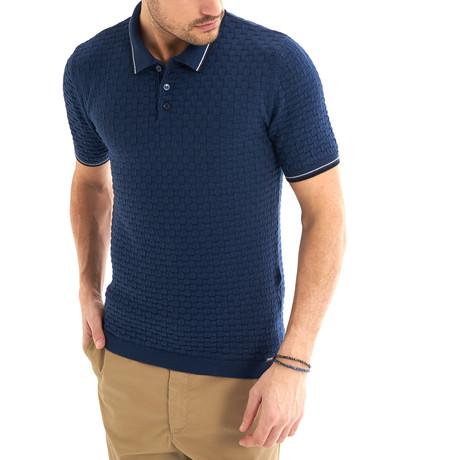 Zenone Short-Sleeve Polo // Indigo (Small)