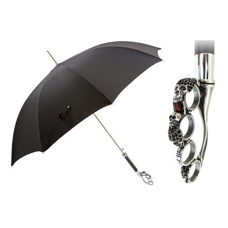 Silver Brass Knuckles Umbrella
