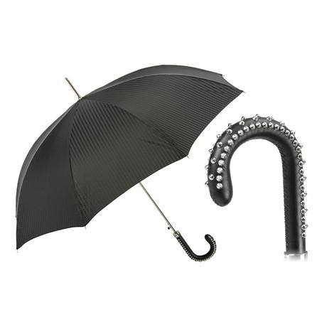 Umbrella + Studded Leather Handle