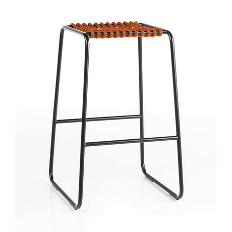 Rada Counter Stool // Black + Orange Rope