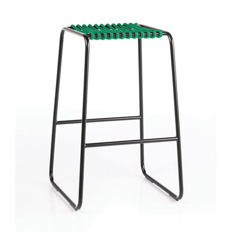 Rada Counter Stool // Black + Green Rope