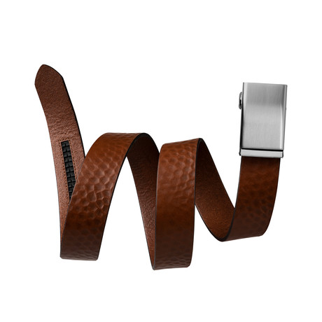 "Caddy Leather Belt + Pinless Buckle // Tobacco Brown (Small // 28""-32"" Waist)"