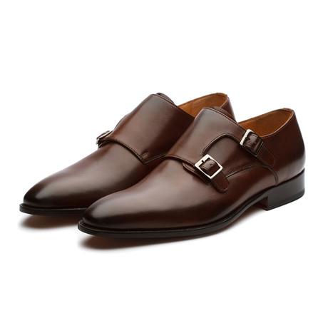 Plain Toe Double Monkstrap // Brown (US: 7)