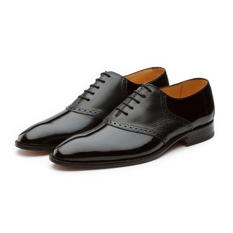 Patent Leather Saddle Oxford // Black (US: 7)