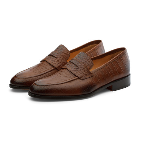 Penny Loafer // Crocodile Brown (US: 7)