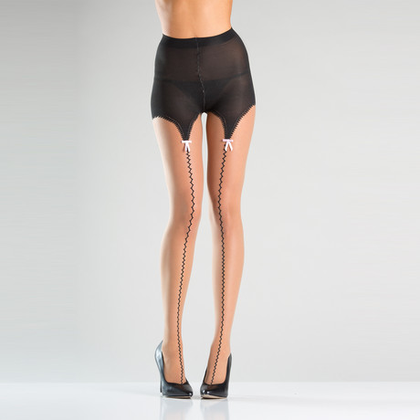 All the Way Up Pantyhose // Black // One Size