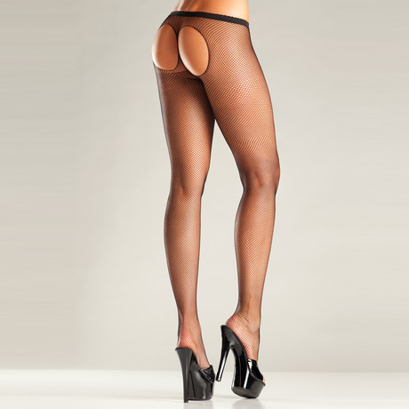 Exposed Pantyhose // Black // One Size