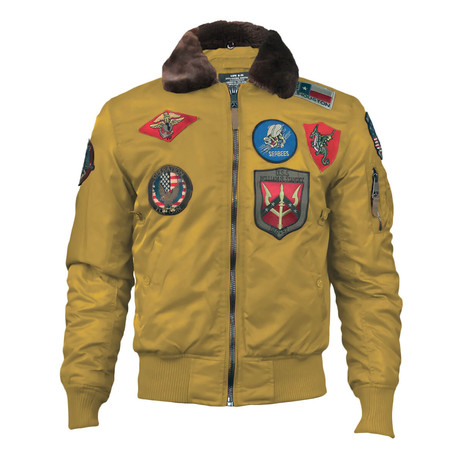 Official B-15 Flight Bomber Jacket + Patches // Wheat (XS)