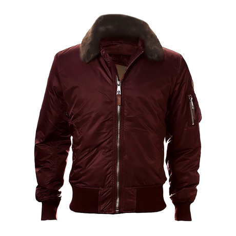 B-15 Heavy Duty Bomber Jacket // Burgundy (XS)
