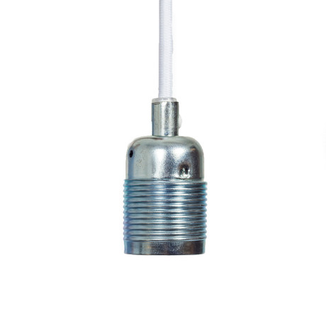 E27 Pendant Light // Electroplated Steel (Steel + White Cable)