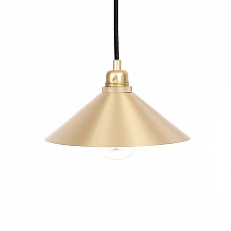 Cone Shade with E27 Pendant // Brass (Small)