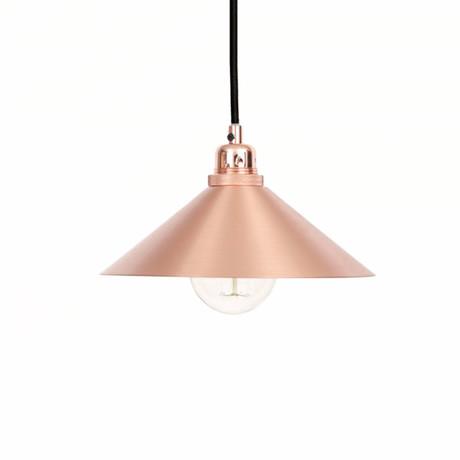 Cone Shade with E27 Pendant // Copper (Small)