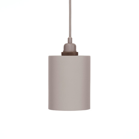 Cylinder Shade with E27 Pendant // Aluminum (Small)